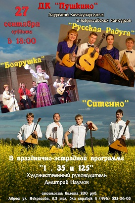Концерт Дмитрия Наумова